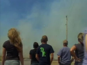 Possible UFO in fire footage at Idaho Nuclear Laboratories
