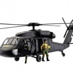 To scale Toy blackhawk helicopter