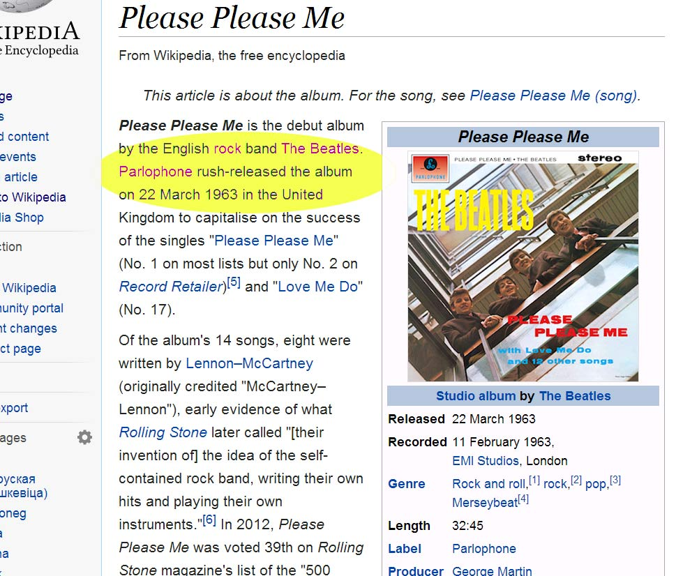 Beatles first ever album release date of March 22 guaranteed music stardom