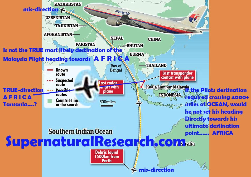 Malaysia missing plane africa