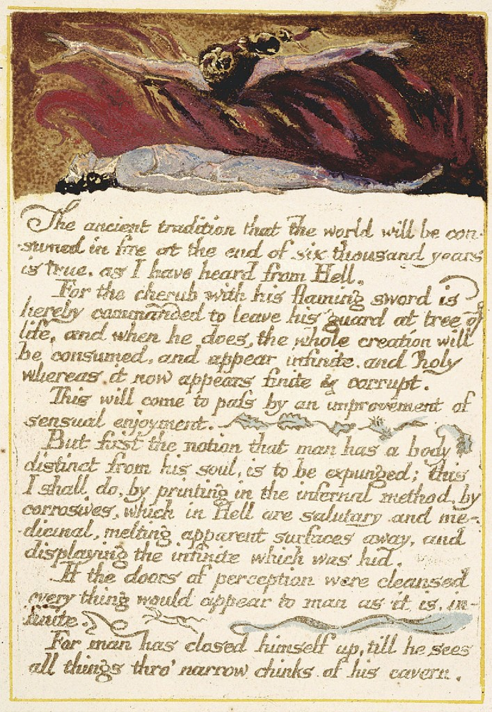 William Blake's assertion of a 6000 year time frame for our earth.....